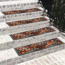 Stained Glass Look Stair Tread | Rugs | Brylanehome These Outdoor Rugs  Brighten Up The
