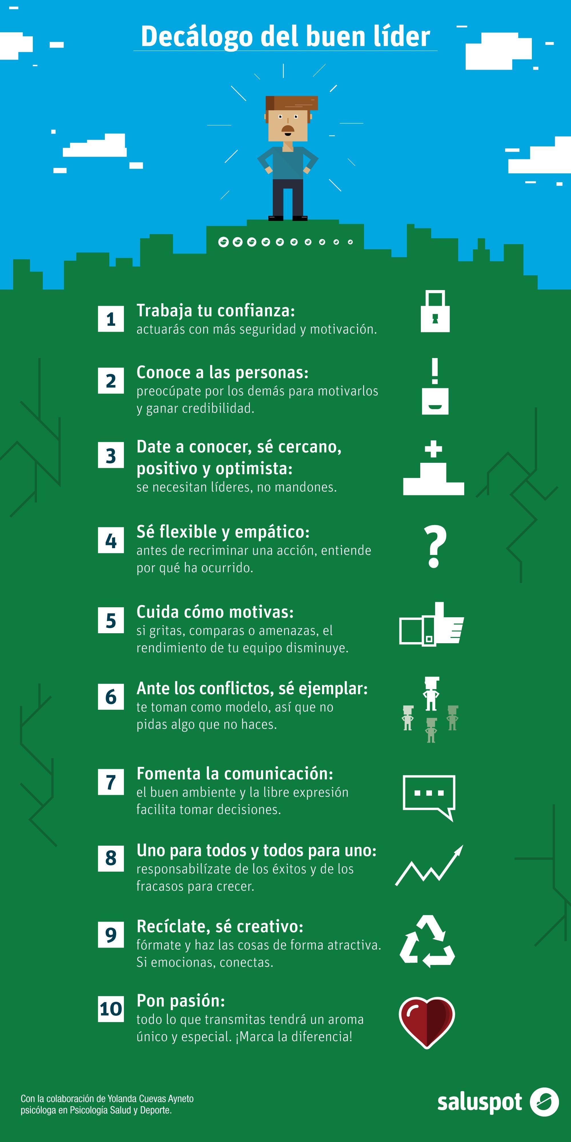 Decálogo Del Buen Líder Infografía Lider Infografia Decalogo
