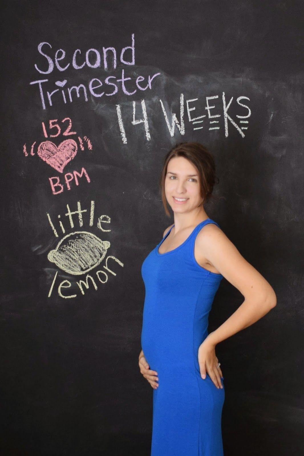chalkboard pregnancy tracker ideas, 14 weeks pregnant
