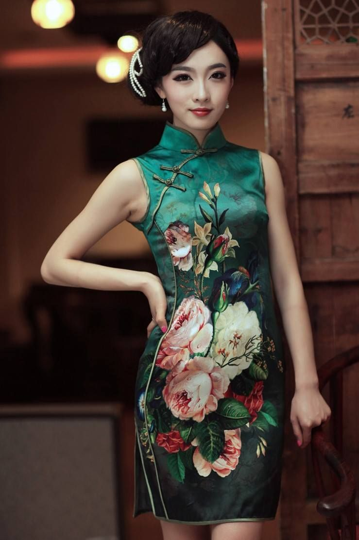 d7630612c Tailor Qipao TQ208 (8) Chinese Clothing, Oriental Fashion, Asian Fashion,  Chinese