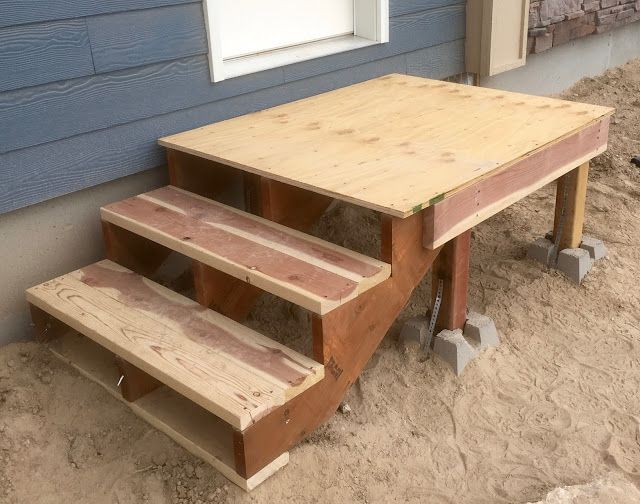 Best Building Temporary Stairs With Redwood Diy Stairs 400 x 300