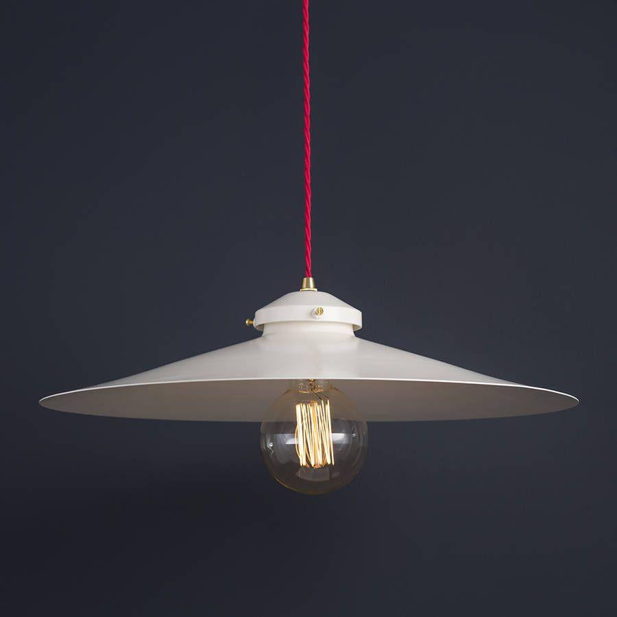modern industrial pendant lighting. Industrial Shallow Pendant Light By Modern Classic | Notonthehighstreet.com Lighting A