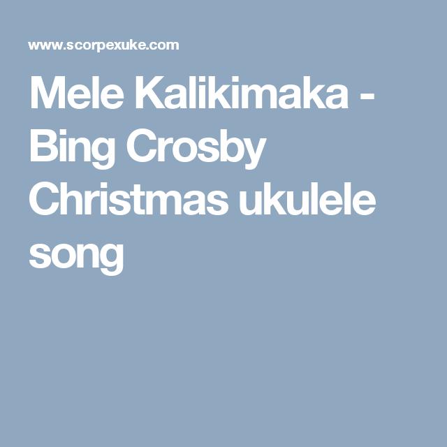 Mele Kalikimaka Bing Crosby Christmas Ukulele Song Do Ra Mi