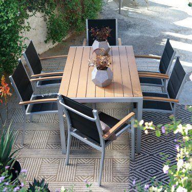 C Coast Southwick Outdoor Aluminum Faux Wood Patio Dining Table