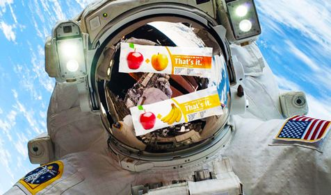 Vegan Fruit Bars Launched into Outer Space