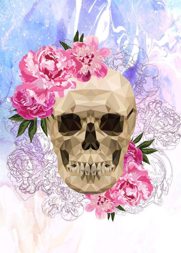каждый череп из цветов постер батилиман едут