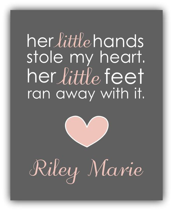 Quotes For A Baby Girl: Baby Shower Gift. Girl Nursery Decor. Baby Girl By