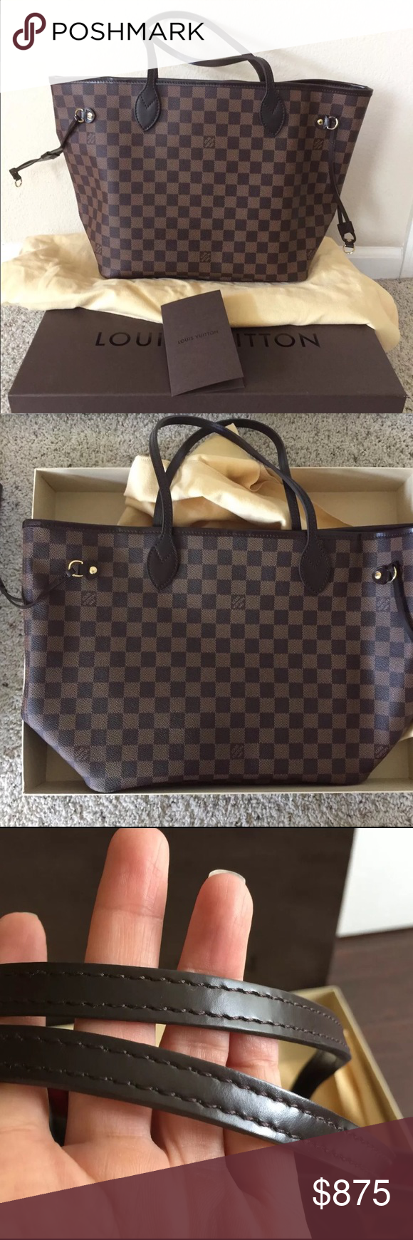 3a621425de86 2012 Louis Vuitton neverfull damier mm   Selling my 100% authentic LV  Neverfull 2012