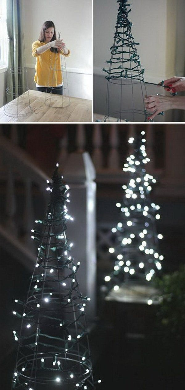 How To String Lights On A Christmas Tree 20 Festive String And Fairy Light Decoration Ideas For Christmas