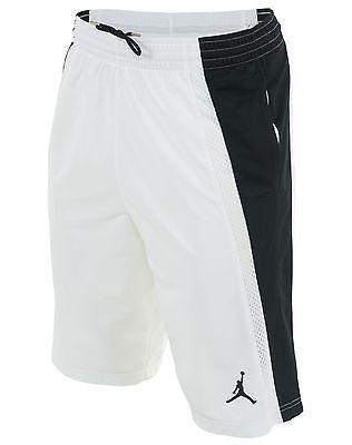 0b1b0a9569b7 Jordan Ajxi Basketball Shorts 642321-100 Mens White Active Shorts SZ ...