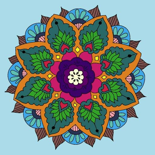 Pretty   Mandala  Flower