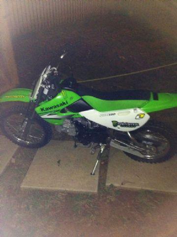 2007 Kawasaki Klx 110 Dirt Bike Green Black 45 Hours For Sale