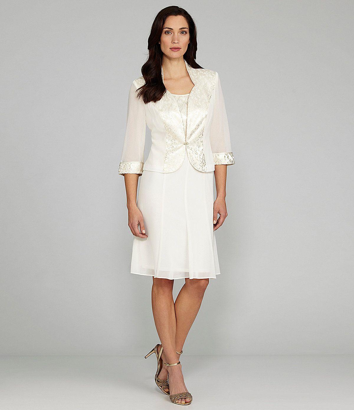 Wedding dresses dillards  Le Bos Woman Piece Jacket Dress  Dillards I think we found a