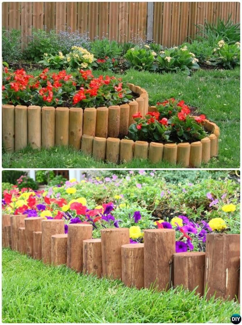 Best Beautiful And Cheap Wood Lawn Edging Ideas Wood Garden