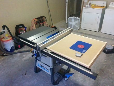 Delta Router Table Extension Diy Table Saw Table Extension