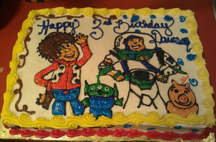 Hand piped toy story cake by Sweetness by Tacy 2013