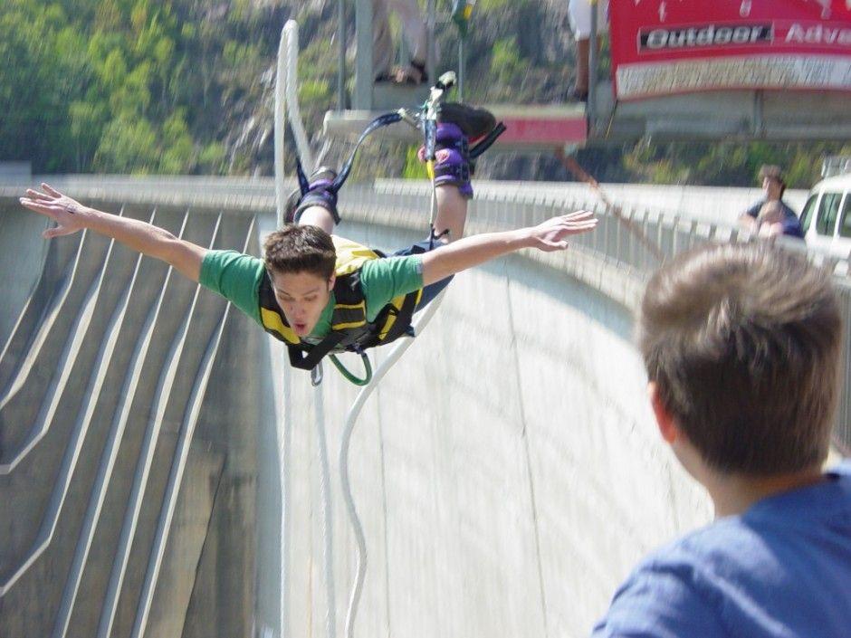 Verzasca Dam Switzerland Bungee Jumping Bucket List Before I Die Jump