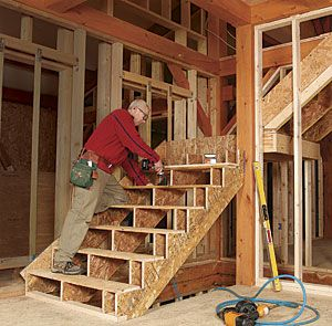 Framing Stairs With A Landing