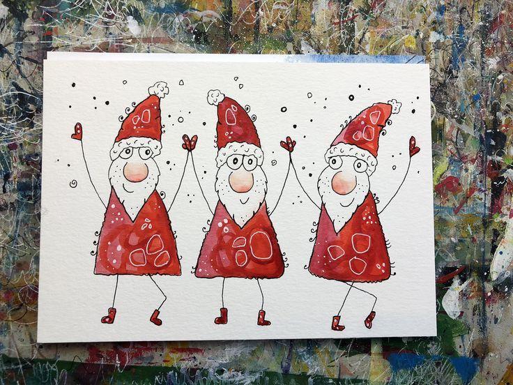 Weihnachtskarten Malen