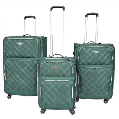 RivoLite Vittoria-Green Spinner Lightweight Expandable Luggage Set ...