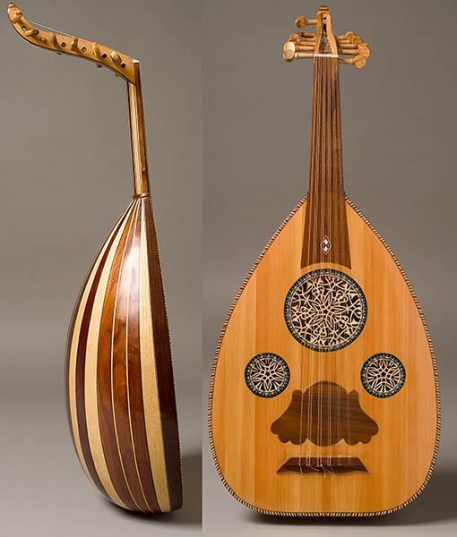 My first oud an inexpensive wall hanger student quality egyptian oud but unusual shallow - Kind oud ...