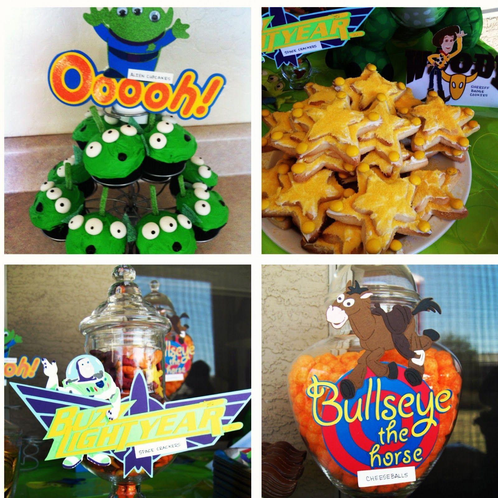 Alien Cupcakes Sheriff Woody Badge Cookies Buzz Lightyear S Space