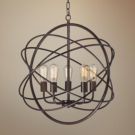Ellery 24 3 4 Quot Wide 5 Light Bronze Sphere Foyer Pendant