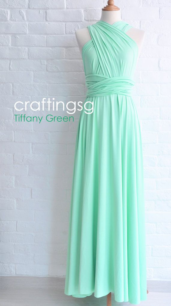 Bridesmaid Dress Seafoam Green Maxi Floor Length Infinity Etsy Turquoise Bridesmaid Dresses Green Bridesmaid Dress Summer Mint Green Bridesmaid Dresses
