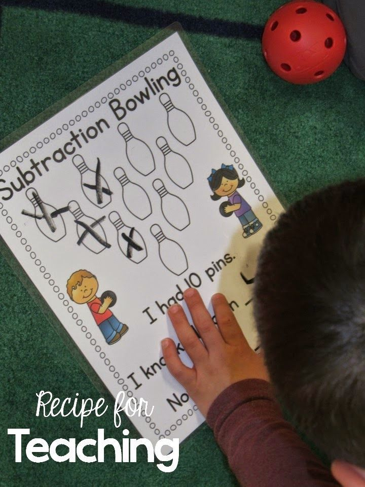 Subtraction Bowling with a FREEBIE! | Addition and Subtraction ...