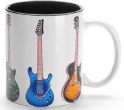 Caneca de porcelana 300 ml Guitarras: Clique para ver detalhes