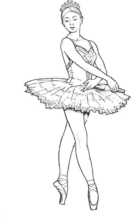 Ballerina Coloring Pages. Download or print for free