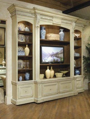 The 0918 is a fine cabinet. Love the details under the molding. Would make a room. Measures 118w x 22d x 105h.