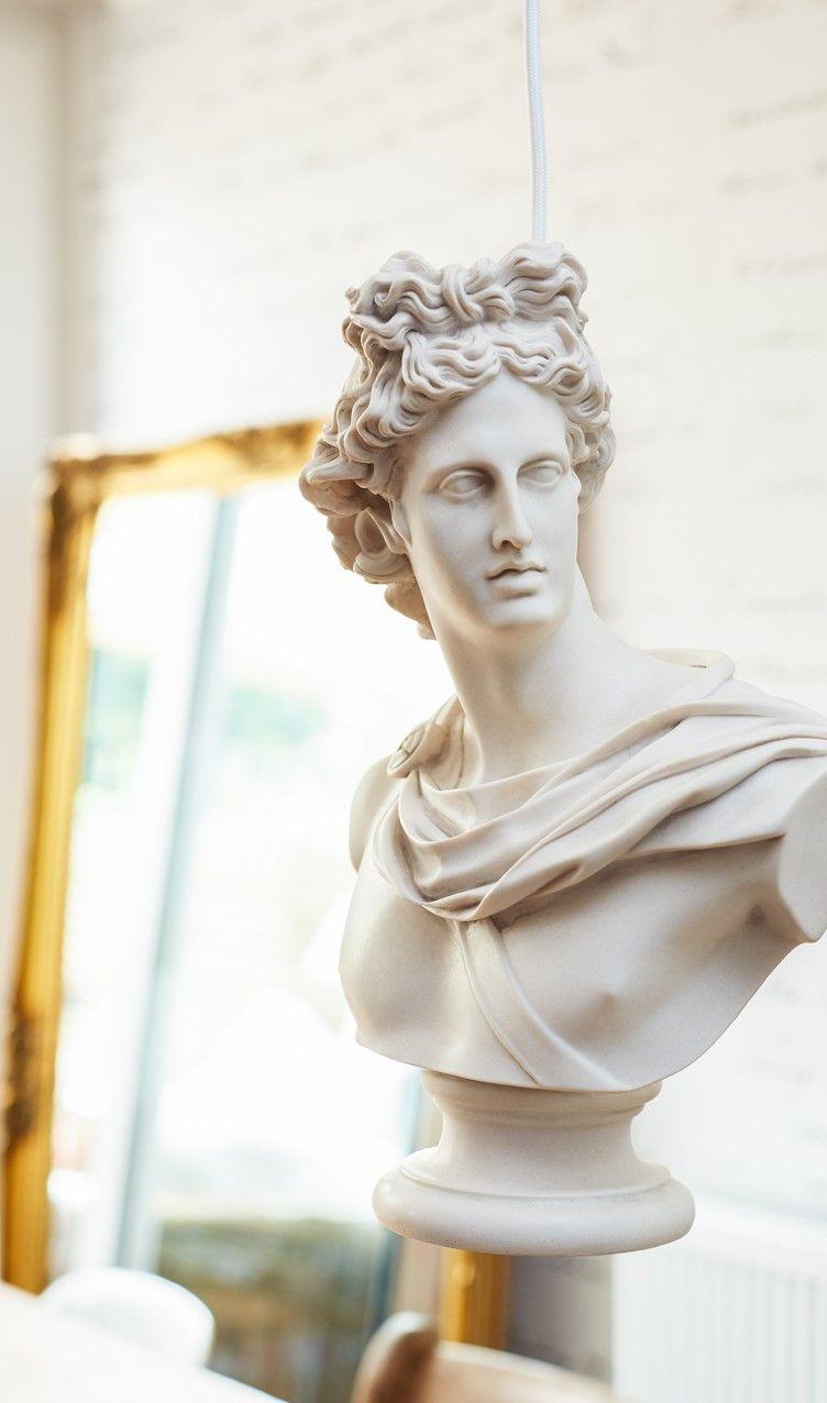 Suspended Statuary Hero Pendant By Mineheart Lig 022 In 2020 Statue Statuary Marble Bust