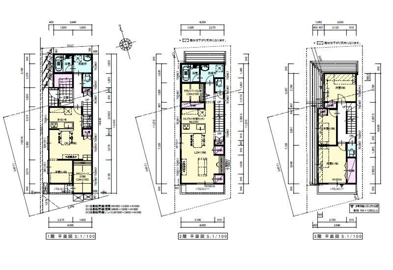 敷地24坪の間取り5ldk以上の3階建て 東京都内の間取り検索 間取り