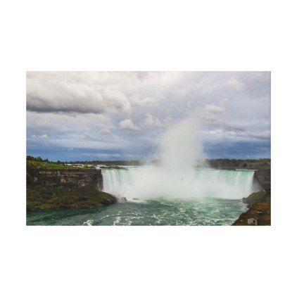 niagara falls canada horseshoe falls and clouds canvas print