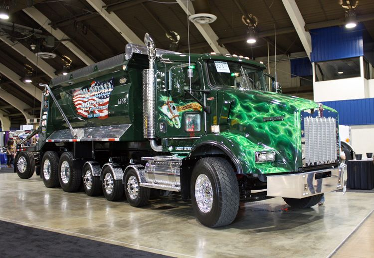 Kenworth With Pusher And Tag Axle For Ridicules Bridge Weight Limit Requirements Dump Trucks Heavy Truck Big Trucks