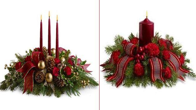 Centros-de-mesa-para-Navidad-2 ADORNOS NAVIDEÑOS Pinterest