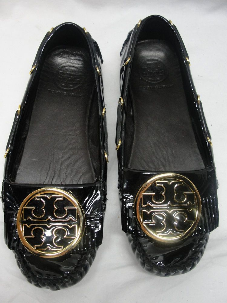 b5e15165e3b TORY BURCH Alexandra black moccasin shoes size 5.5 M Leather Work Casual   ToryBurch  LoafersMoccasins