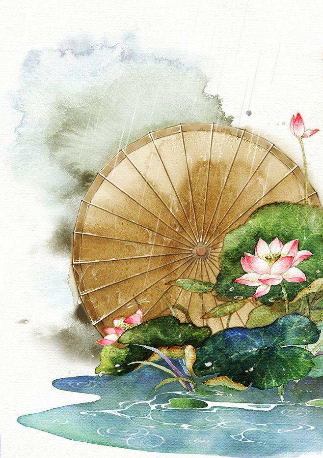念缇  的插画 【执伞】