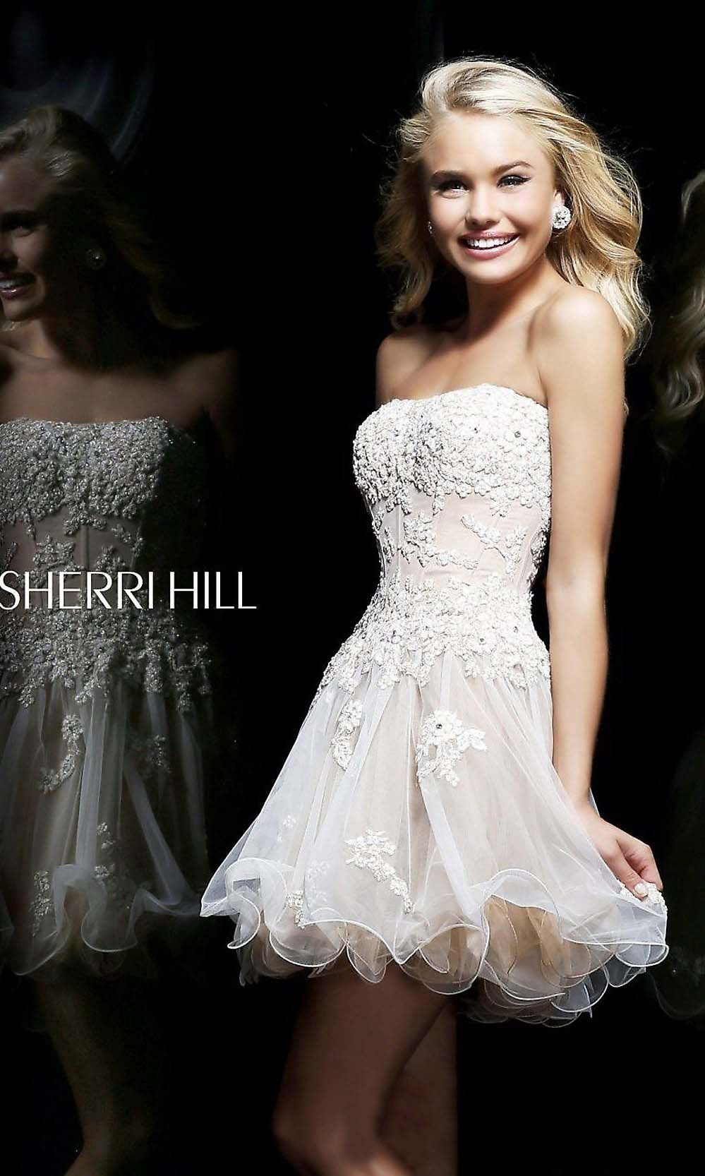 2014 new short cute strapless lace prom dress | Cheap prom dresses ...
