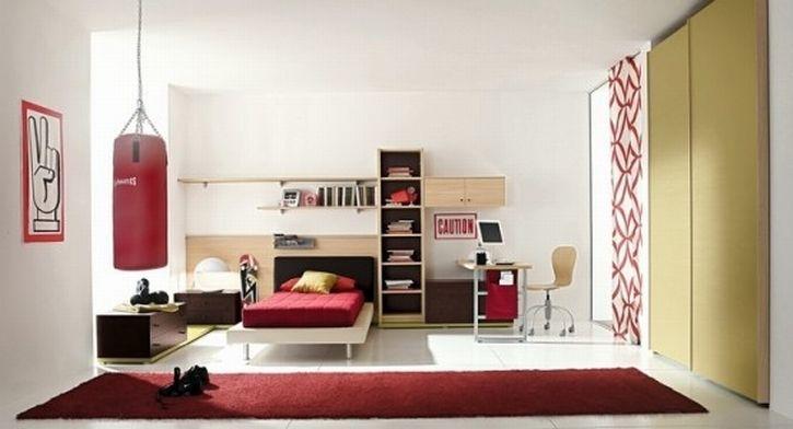 elegant bedroom ideas for guys with sport area I Pinterest
