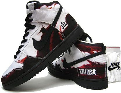 finest selection ab088 cc2d3 Nike Dunk High Pro SB - Melvins White Edition (white  black)
