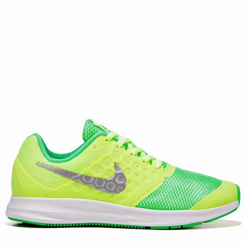 Nike Kids  Downshifter 7 Running Shoe Grade School Shoes (Ghost  Green Metallic) - 4.5 M b8db3d61e