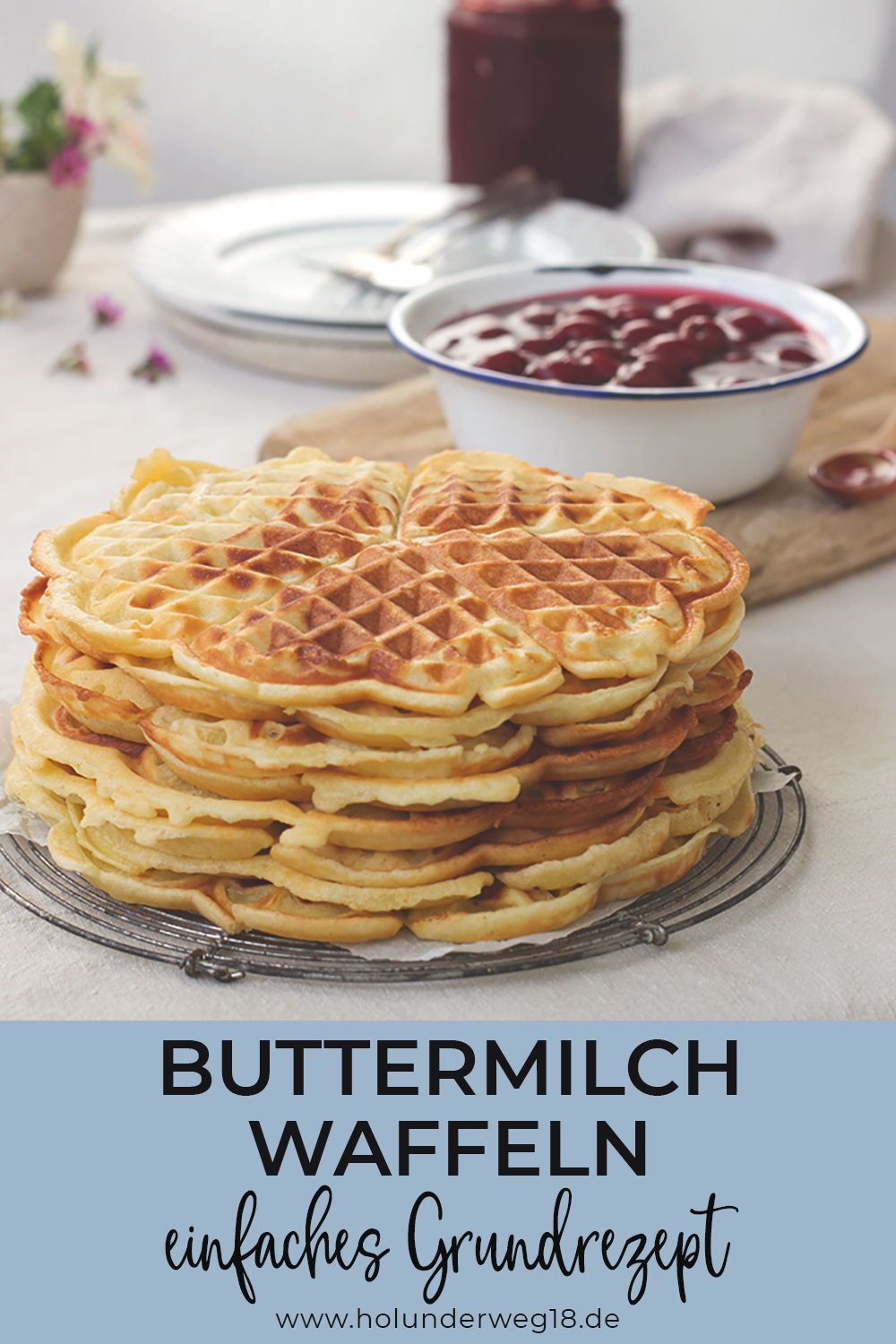 Photo of Sunday is cake day: buttermilk waffles with hot cherry …