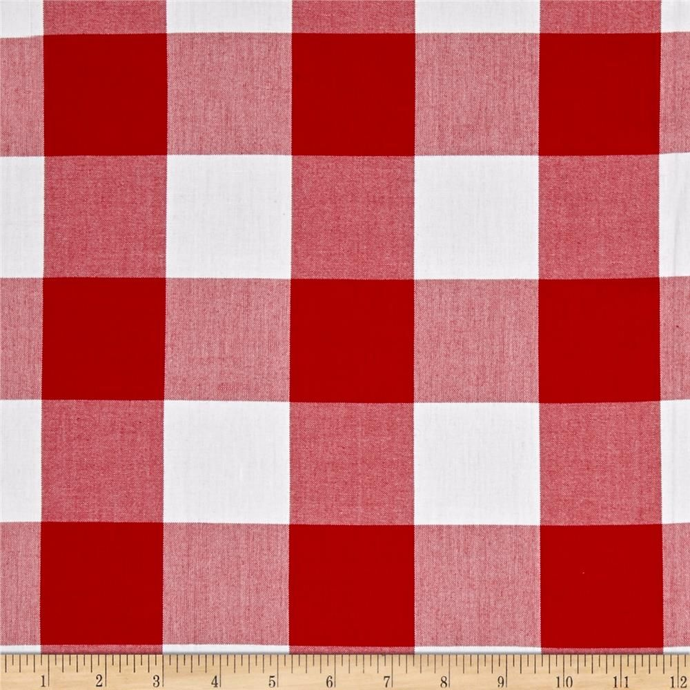"""Kaufman Carolina Gingham 2"""" Crimson from @fabricdotcom  From Kaufman, this woven yarn dyed gingham fabric is great for blouses, dresses, skirts and children's apparel. It can also be used for quilting projects. Colors include white and red. Remember to allow extra yardage for pattern matching."""