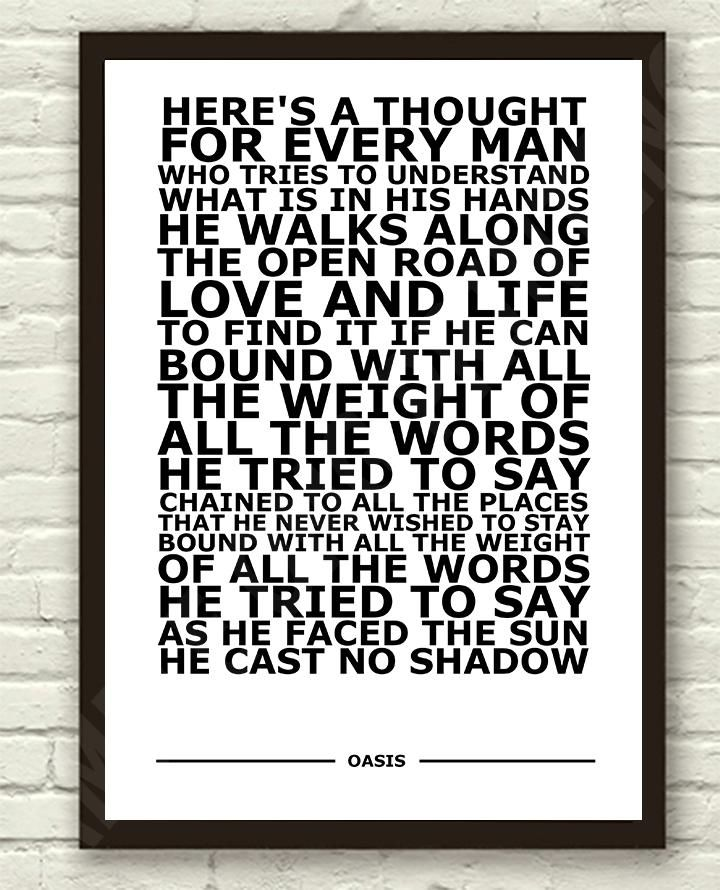 Lyric oasis lyrics masterplan : Oasis - Cast No Shadow. Inspired by Richard Ashcroft | musicians ...