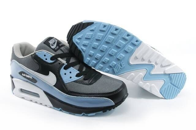 Women's Nike Air Max 90 Gray White Black Pink HOT SALE! HOT PRICE!