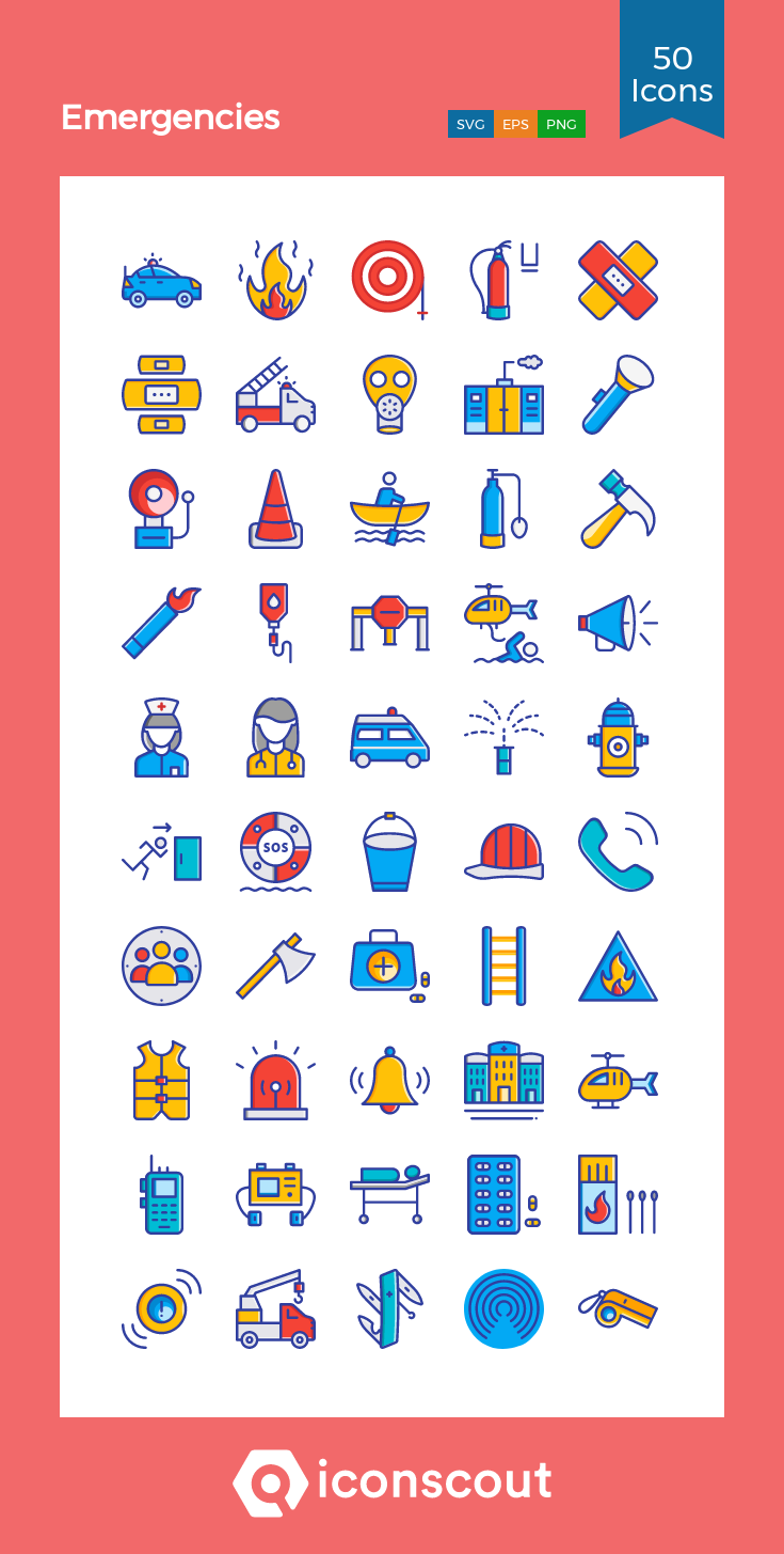 Download Emergencies Icon pack Available in SVG, PNG