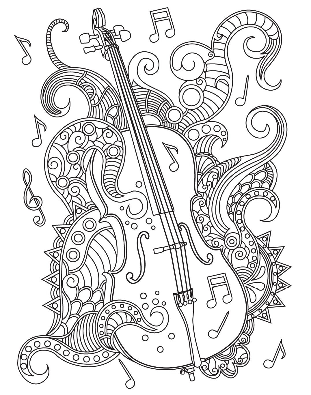 Zen coloring books for adults app - Violin Colorish Coloring Book For Adults Mandala Relax By Goodsofttech