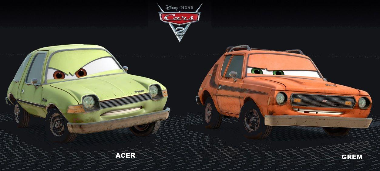 Cars 2 Grem And Acer Amc Gremlin Cars Movie American Motors